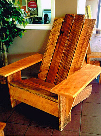 tiger wood adirondack chair