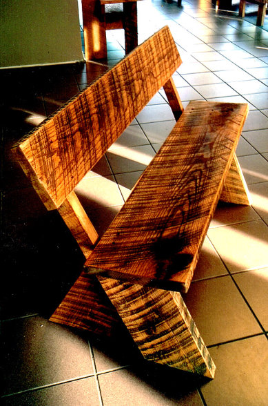 Tiger Wood Benches Wood Benches